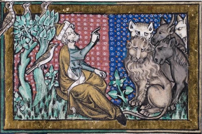 توضیحِ تصویر: حضرت آدم در حال نامگذاریِ حیوانات