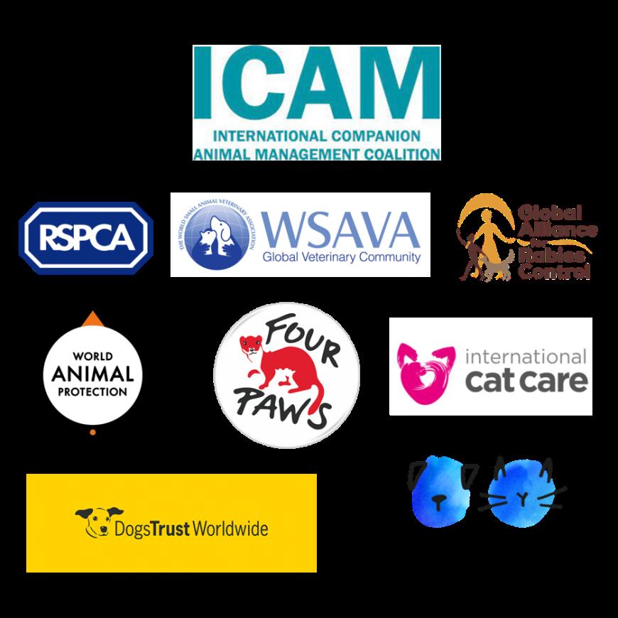شکل 3 اعضای ائتلاف جهانی مدیریت حیوانات (ICAM)